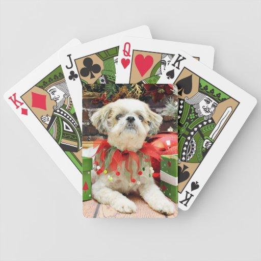 Christmas - Shih Tzu - Bailey Deck Of Cards