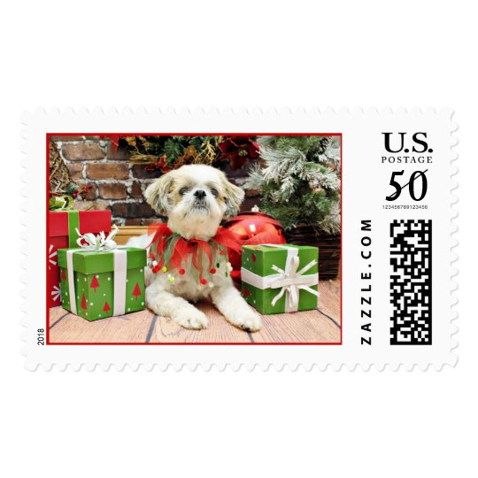 Christmas - Shih Tzu - Bailey Postage
