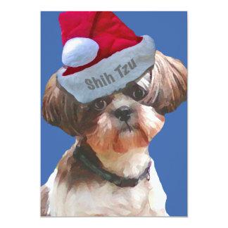 """Christmas Shih Tzu """"Betsy"""" Invitations"""