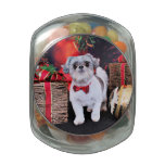 Christmas - Shih Tzu - Boomer Jelly Belly Candy Jar