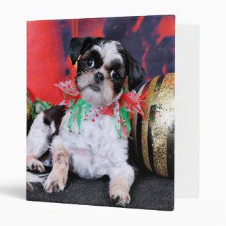Christmas - Shih Tzu - Chin Ching Vinyl Binder