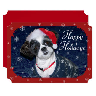 Christmas Shih Tzu Dog Card