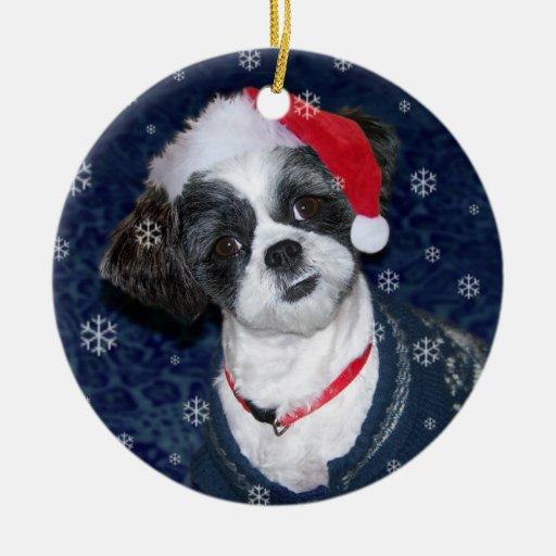 Christmas Shih Tzu Dog Christmas Ornaments