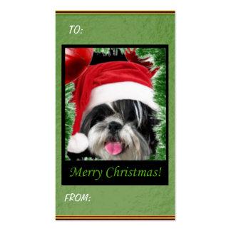 Christmas Shih Tzu Gift Tags Business Card Template