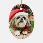 Christmas - Shih Tzu - Gizmo Christmas Ornament