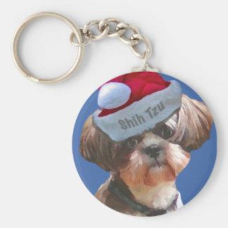 Christmas Shih Tzu Key Chains