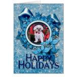 Christmas - Shih Tzu - Kobe Greeting Card
