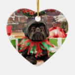 Christmas - Shih Tzu - Lily Ornament