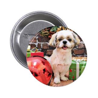 Christmas - Shih Tzu - Marley Button