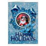 Christmas - Shih Tzu - Mishka Greeting Card