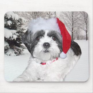 Christmas Shih Tzu Mouse Pad