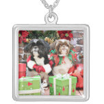 Christmas - Shih Tzu - Pixie and Willie Pendant