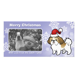 Christmas Shih Tzu (puppy cut) Card