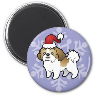Christmas Shih Tzu (puppy cut) Magnet