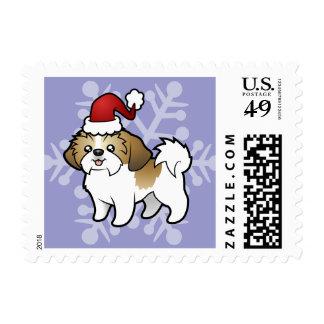 Christmas Shih Tzu (puppy cut) Postage