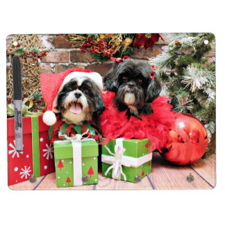 Christmas - Shih Tzu - Riley and Ruffles Dry-Erase Board