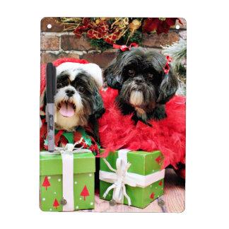 Christmas - Shih Tzu - Riley and Ruffles Dry Erase Boards