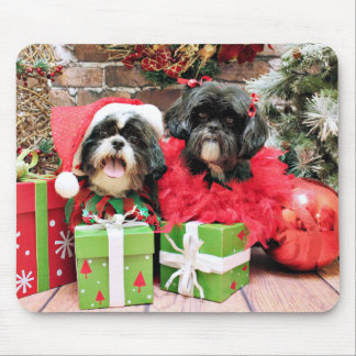 Christmas - Shih Tzu - Riley and Ruffles Mouse Pad