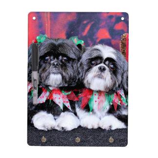Christmas - Shih Tzu - Ruffles and Riley Dry Erase Boards
