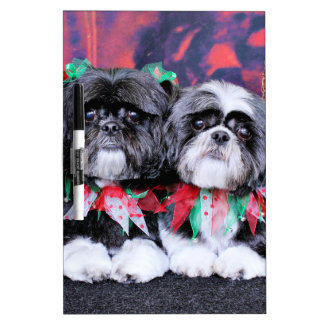 Christmas - Shih Tzu - Ruffles and Riley Dry-Erase Boards