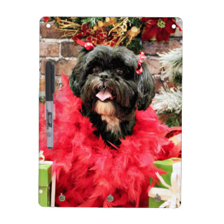 Christmas - Shih Tzu - Ruffles Dry Erase Boards