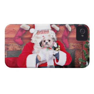 Christmas - Shih Tzu - Ruthie iPhone 4 Cover