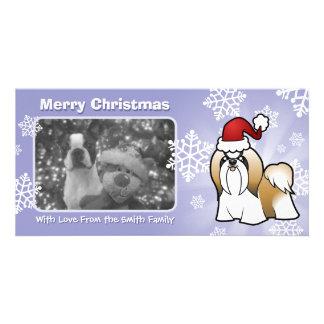 Christmas Shih Tzu (show cut) Card