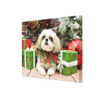 Christmas - Shih Tzu - Sophie Gallery Wrap Canvas