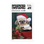 Christmas Shih Tzu Stamp