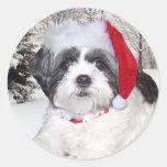 Christmas Shih Tzu Sticker