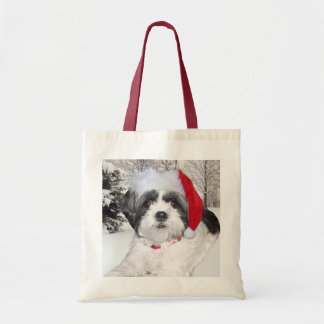 Christmas Shih Tzu Tote Bag