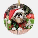 Christmas - Shih Tzu - Vince Ornaments