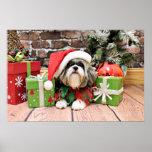 Christmas - Shih Tzu - Vince Print