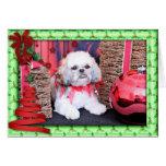 Christmas - Shih Tzu - Wrigley Card