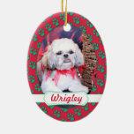 Christmas - Shih Tzu - Wrigley Christmas Ornaments