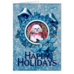 Christmas - Shih Tzu - Wrigley Greeting Card