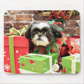 Christmas - Shih Tzu - Yogi Mouse Pads