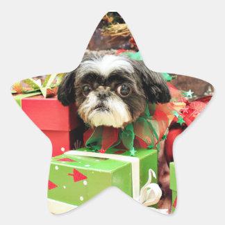 Christmas - Shih Tzu - Yogi Star Sticker