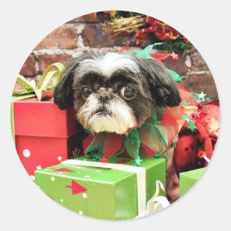 Christmas - Shih Tzu - Yogi Stickers