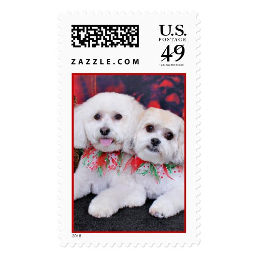 Christmas - Shihchon - Poochon -Newman and Wrigley Postage Stamps