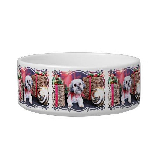 Christmas - ShihPoo - Gizmo Pet Bowl