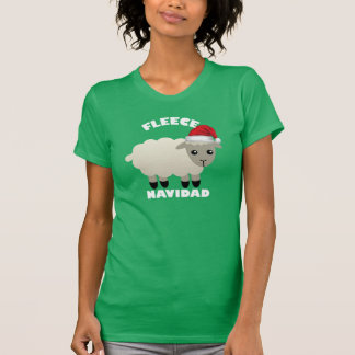 Christmas shirt Fleece (Feliz) Navidad with sheep