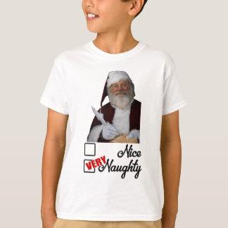 Christmas shirts for boys - Santa naughty list