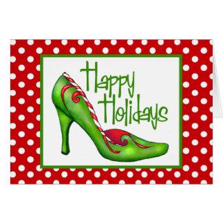 Christmas Shoe Art Cards