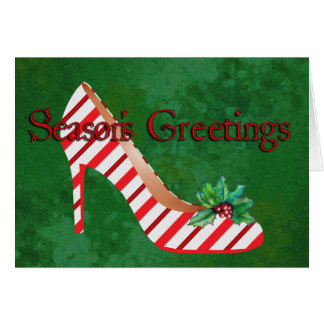 Christmas Shoes Greeting Card