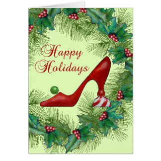 Christmas Shoes Happy Holiday Card