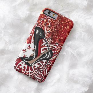 Christmas Shoes Stilettos fashion Snowflake Xmas Barely There iPhone 6 Case