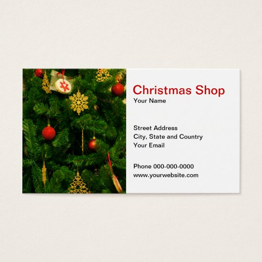 Christmas Shop Business Card