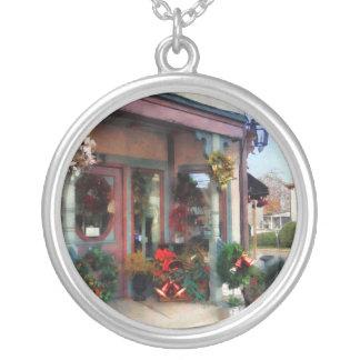 Christmas Shop Round Pendant Necklace