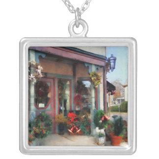 Christmas Shop Square Pendant Necklace